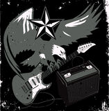 Grungy Guitar Eagle Royalty Free Stock Images