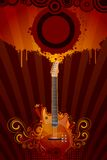 Grungy Guitar Royalty Free Stock Images