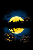 Grungy Halloween background Stock Images