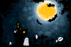 Grungy Halloween Background with Ghosts Royalty Free Stock Photography
