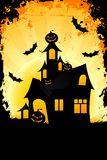 Grungy Halloween background with haunted house Royalty Free Stock Photography