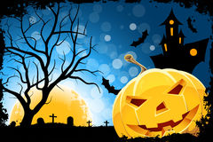 Grungy Halloween Background Stock Photo