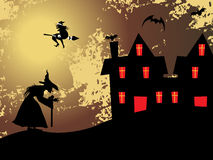 Grungy halloween background, wallpaper. Abstract grungy halloween background, illustration Royalty Free Stock Image