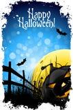 Grungy Halloween bakgrund Arkivbild