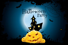 Grungy Halloween Party Background Stock Photo