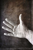 Grungy hand Stock Images