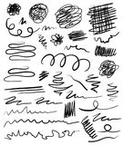 Grungy hand drawn figures. Grungy hand drawn abstract figures Stock Photos