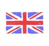 United Kingdom Hand Drawn Flag royalty free illustration