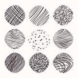 Grungy hand getrokken texturen, kwaststreken De inzameling van het ontwerp Abstracte vector clipart isolatad op witte achtergrond vector illustratie
