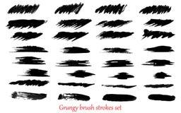 Grungy vector brush strokes Royalty Free Stock Photography