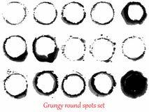 Grungy vector spots set Stock Image