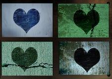 Grungy hart stock illustratie