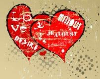 Grungy harten vector illustratie