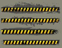 Grungy hazard Stock Image