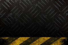 Grungy Hazard Background Stock Photos