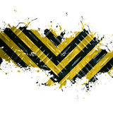 Grungy Hazard Stripes Stock Images