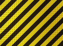 Grungy hazard stripes Stock Image