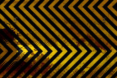 Grungy Hazard Stripes royalty free illustration