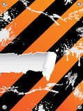 Grungy hazard stripes background Stock Images
