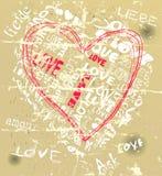 Grungy heart Stock Photo
