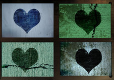 Grungy heart Stock Photography