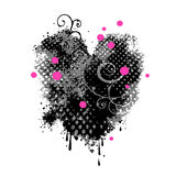 Grungy heart Stock Image