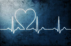 Grungy heart beat. Abstract background Royalty Free Stock Photo