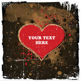 Grungy Heart Design. Fashionable Grungy Valentine's Day Design With Space for Text stock illustration