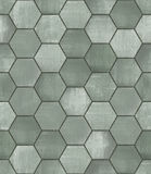 Grungy Heksagonalna Kafelkowa Bezszwowa tekstura Obraz Royalty Free