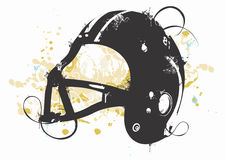 Grungy helmet. Grungy illustration of a football's helmet Royalty Free Stock Images