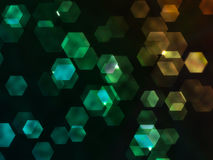 Grungy Hexagon. Colorful grungy hexagon background in rainbow colors Stock Image
