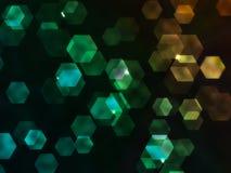 Grungy Hexagon Stock Image