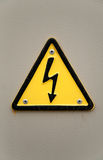 Grungy high voltage sign Stock Photos
