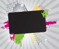 Grungy Hintergrundfahne mit Platz für Text Lizenzfreie Stockfotografie