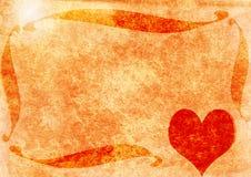 grungy hjärta Fotografering för Bildbyråer