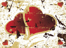 grungy hjärtaillustration för abstrakt bakgrund Royaltyfri Bild