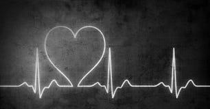 Grungy hjärtatakt Fotografering för Bildbyråer