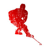 Grungy hockey player Stock Images