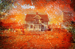 Grungy house Royalty Free Stock Photography