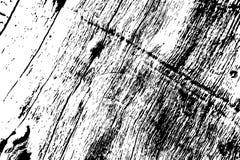 Grungy houten textuur Ruwe hout zwart-witte textuur Doorstane Hardhoutoppervlakte stock illustratie