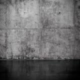 Grungy i gładka naga betonowa ściana Fotografia Royalty Free