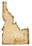 Grungy Idaho Map Stock Images