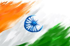 Grungy Indian Flag royalty free illustration
