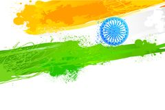 Grungy Indian Wallpaper with flag Stock Photo