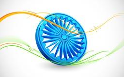 Grungy indisk flagga vektor illustrationer
