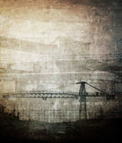 Grungy industrial background Royalty Free Stock Photo