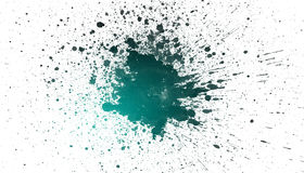 Grungy ink splatter stain Stock Photo