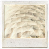 Grungy instant film frame with abstract filling. Kind of background, vintage grain effect added Royalty Free Stock Image