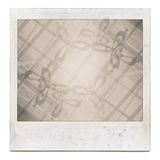Grungy instant film frame with abstract filling. Designed grungy instant film frame with abstract filling isolated on white, kind of background, vintage grain Stock Photography
