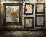 Grungy interior Stock Images